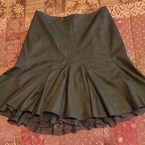 NEW The Limited Black Fringe skirt